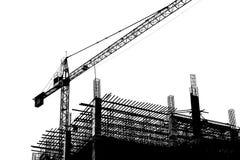 Kran in der Baustelle Stockfoto