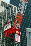 Kran, der an WTC Manhattan, NYC arbeitet Stockfoto