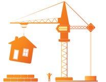 kran för byggnadskonstruktion Royaltyfri Fotografi