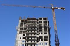 kran för byggnadskonstruktion under Fotografering för Bildbyråer