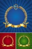 kran för guld- band för ram rund stock illustrationer