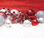 kran för snow för bowjulgarneringar Royaltyfri Fotografi