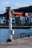 Kran i hamnen Royaltyfria Foton