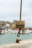 Kran i hamnen Dieppe Royaltyfria Foton