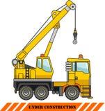Kran Maschinen des schweren Baus Auch im corel abgehobenen Betrag Lizenzfreie Stockbilder