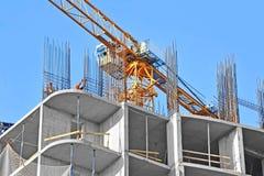 Kran- och konstruktionsplats Arkivbilder