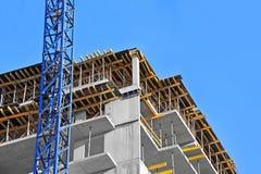 Kran- och konstruktionsplats Royaltyfri Bild