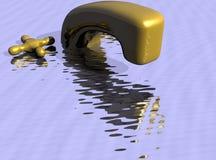 kran otaczającą wody Zdjęcia Stock