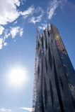 Kran på skyskrapa Arkivfoto