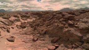 Kran schoss über der Landschaft von Atacama, Chile stock footage