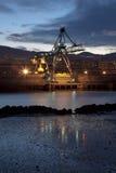 Kran in Sestao, Bizkaia Lizenzfreies Stockfoto