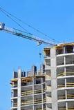 Kran und Baustelle Stockbilder