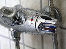 kran w prysznic Zdjęcia Royalty Free