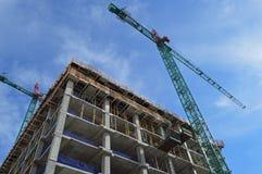 Kranar för konstruktionsplats Royaltyfri Foto
