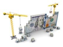 kranar och pengar stock illustrationer