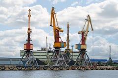 Kranen 04 van de container Royalty-vrije Stock Foto