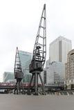 Kranen Canary Wharf Royalty-vrije Stock Foto's