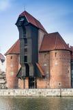 Kranen i Gdansk, Polen Arkivbild