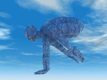 kranen poserar yoga Royaltyfri Bild