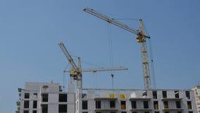 Kranenbeweging De bouw stock footage