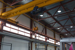 Kranfabrik Stockbild