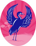 Kranflattern wings Kiefer Lizenzfreie Stockbilder