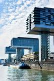Kranhäuser, arquitetura moderna, em Köln Fotografia de Stock
