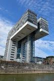Kranhaus,现代建筑学,在Köln 免版税库存图片