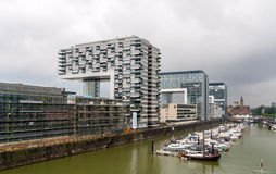 Kranhaus apartment and office buildings in Cologne, Germany Royalty Free Stock Photography