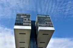 Kranhaus, arquitetura moderna, em Köln Fotos de Stock