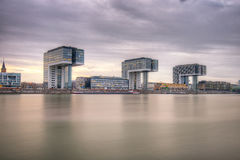 Kranhaus Crane Houses, Cologne Allemagne Photographie stock