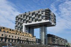 Kranhaus, moderne Architektur, bei Köln Lizenzfreie Stockbilder