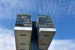 Kranhaus, moderne Architektur, bei Köln Stockfotos