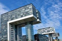 Kranhaus, moderne Architektur, bei Köln Lizenzfreies Stockfoto