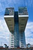 Kranhaus, nowożytna architektura przy Köln, fotografia royalty free