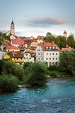 Kranj, Slovenia. Old town panorama Stock Photo