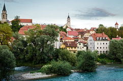 Kranj, Slovenia. Old town panorama Royalty Free Stock Image