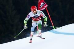 KRANJEC Zan in Audi Fis Alpine Skiing World-Kop Men's Reuzesl royalty-vrije stock afbeeldingen