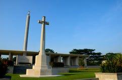 Kranji för kommission för brittiska samväldetkriggravar minnes- monument Singapore Arkivfoto