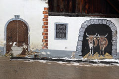 Kranjska gora. Doors and windows in the street of kranjsca gora Stock Photos