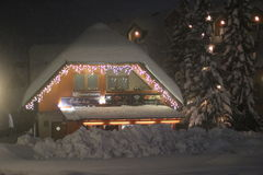 Kranjska Gora im Winter lizenzfreies stockbild