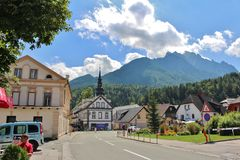 Kranjska Gora, Slovenia. Kranjska Gora is a town and municipality in western Slovenia. The town is a popular winter sports resort and every year the Alpine World royalty free stock photo