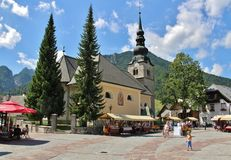 Kranjska Gora, Slovenia. Kranjska Gora is a town and municipality in western Slovenia. The town is a popular winter sports resort and every year the Alpine World stock images
