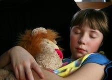Krank und Schlafen Stockfoto