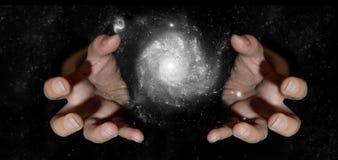 Kranke Hände im Universum Lizenzfreies Stockbild