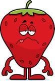 Kranke Karikatur-Erdbeere Stockbild
