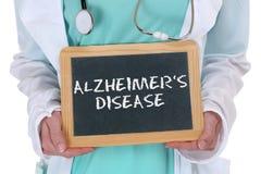 Kranke Krankheit Alzheimers-Krankheit Alzheimer Alzheimer gesundes hea Lizenzfreies Stockbild