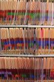 Krankenblätter Stockbild