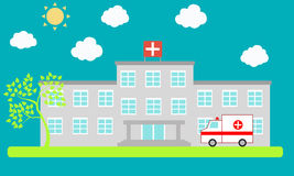 Krankenhaus stock abbildung