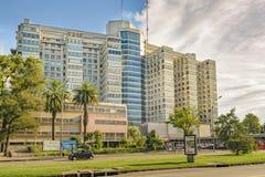 Krankenhaus, das Außenansicht, Montevideo, Uruguay aufbaut Stockfotos